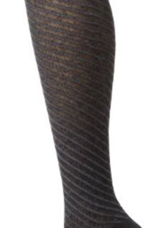 Jones New York Women's Diagonal Texture Heather Knee High Socks