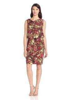 Jones New York Women's Drape Dress with Cowel Front