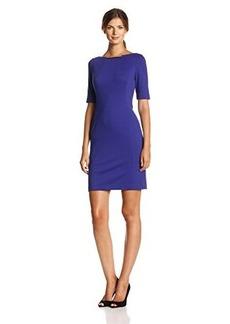 Jones New York Women's Elbow-Sleeve Solid Sheath Dress