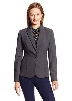Jones New York Women's Emma Solid Seasonless Stretch Waist Seam Jacket