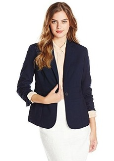 Jones New York Women's Emma Solid Waist-Seam Blazer