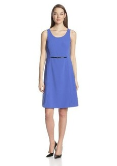Jones New York Women's Fit-and-Flare Dress with Top Stitching
