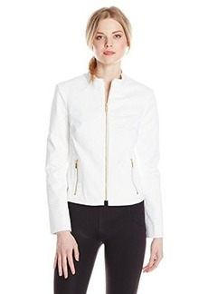 Jones New York Women's Fitted Zip Moto Jacket
