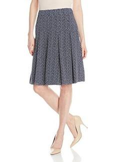 Jones New York Women's Knife Pleat Soft Skirt
