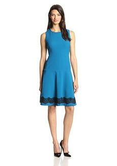 Jones New York Women's Lace-Hem Fit-and-Flare Dress
