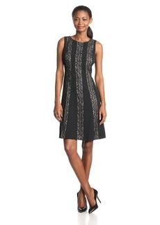 Jones New York Women's Lace Panel Sheath Dress