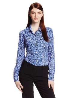 Jones New York Women's Long-Sleeve Blouse with Raw Stripes