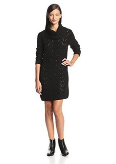 Jones New York Women's Long Sleeve Cowl Neck Cable Sweater Dress