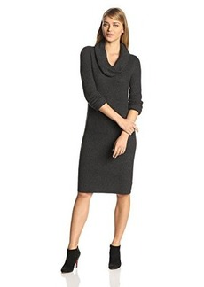 Jones New York Women's Long-Sleeve Cowl-Neck Dress