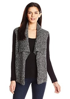 Jones New York Women's Long Sleeve Drape Front Jacket