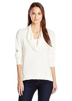 Jones New York Women's Long Sleeve Hi-Lo Cowl