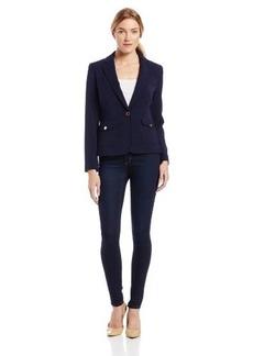 Jones New York Women's Long Sleeve Jacket with Belt