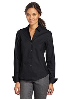 Jones New York Women's Long-Sleeve No-Iron Easy-Care Shirt