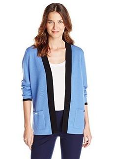 Jones New York Women's Long Sleeve Open Front Cardigan