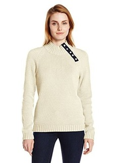 Jones New York Women's Long Sleeve Raglan Sleeve Turtle Neck Pullover