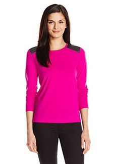 Jones New York Women's Long-Sleeve Shirt with Contrast Piecing