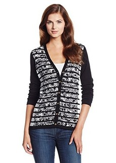 Jones New York Women's Long-Sleeve V-Neck Cardigan Sweater