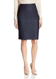 Jones New York Women's Lucy Dressy Denim Seasonless Stretch Pencil Skirt
