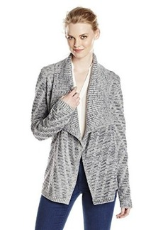 Jones New York Women's Marled Drape Front Cardigan