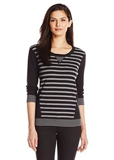 Jones New York Women's Multistripe Pullover Top Top