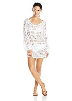Jones New York Women's Neo Crochet Peasant Cover Up