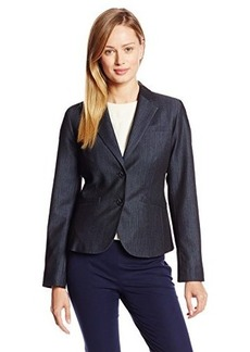 Jones New York Women's Olivia Dressy Denim 2 Button Jacket