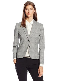 Jones New York Women's Olivia Glen Plaid Seasonless Stretch Blazer
