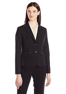 Jones New York Women's Olivia Ribbon Trim Jacket Black