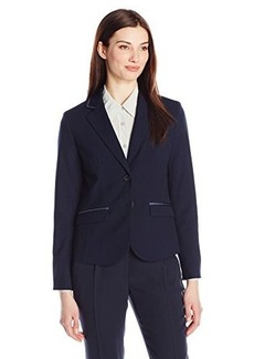 Jones New York Women's Olivia Ribbon Trim Jacket Navy