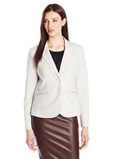 Jones New York Women's Olivia Ribbon Trim Jacket Oyster