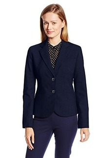 Jones New York Women's Olivia Solid 2 Button Suit Jacket