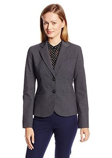 Jones New York Women's Olivia Solid Short Sleeve 2 Button Jacket