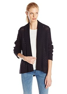 Jones New York Women's Open Front Cardigan with Rib