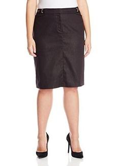 Jones New York Women's Pencil Skirt with Novelty Buckle