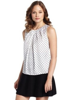 Jones New York Women's Petite Abby Polka Dot Shell Top