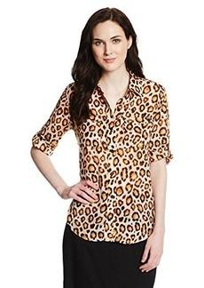 Jones New York Women's Button Back Roll Sleeve Shirt