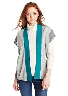 Jones New York Women's Petite Colorblocked Over Sized Cardigan
