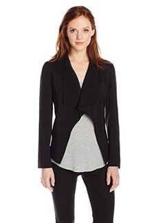 Jones New York Women's Petite Drape Front Jacket