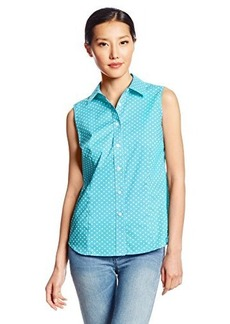 Jones New York Women's Petite Fitted Sleeveless Shirt