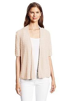 Jones New York Women's Petite Half Sleeve Open Front Cardigan