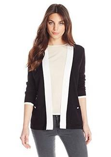 Jones New York Women's Petite Long Sleeve Open Front Cardigan Combo