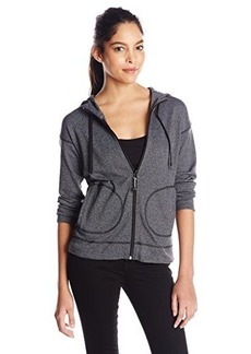 Jones New York Women's Petite Marled Zip Front Hoodie