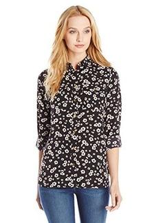 Jones New York Women's Roll Sleeve Safari Style Shirt