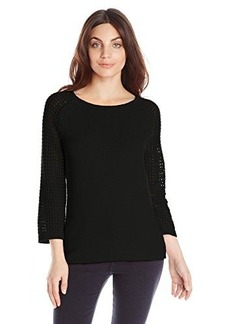 Jones New York Women's Petite Scoop-Neck Pullover