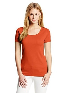 Jones New York Women's Petite Short Sleeve Scoop Neck Top