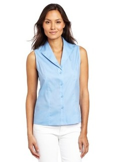 Jones New York Women's Petite Sleeveless No-Iron Easy Care Shirt