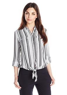 Jones New York Women's Petite Tie Front Blouse