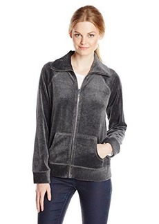 Jones New York Women's Petite Zip Front Jacket Grey