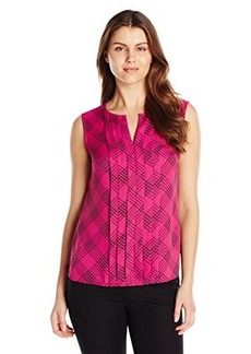 Jones New York Women's Pleat Front Blouse