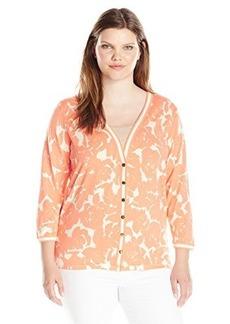 Jones New York Women's Plus-Size 3/4 Sleeve  Cardigan